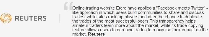Reuters ger positivt omdöme om eToro